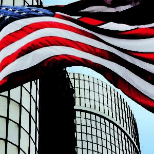 Nylon US Flags