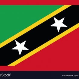 National Flag St. Kitts and Nevis